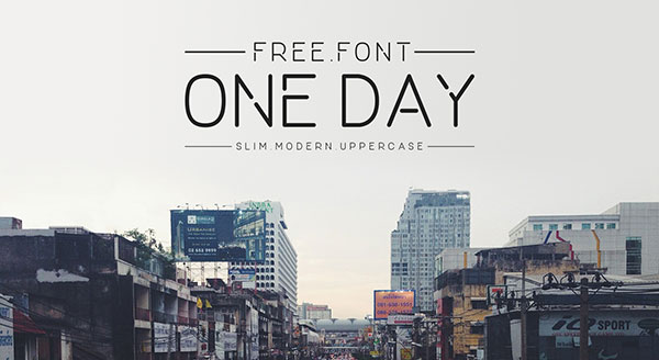ONE-DAY-Free-Font-2016