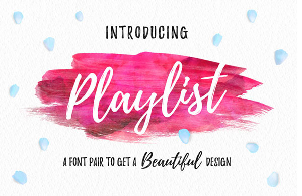 Playlist-Beautiful-Script-Font