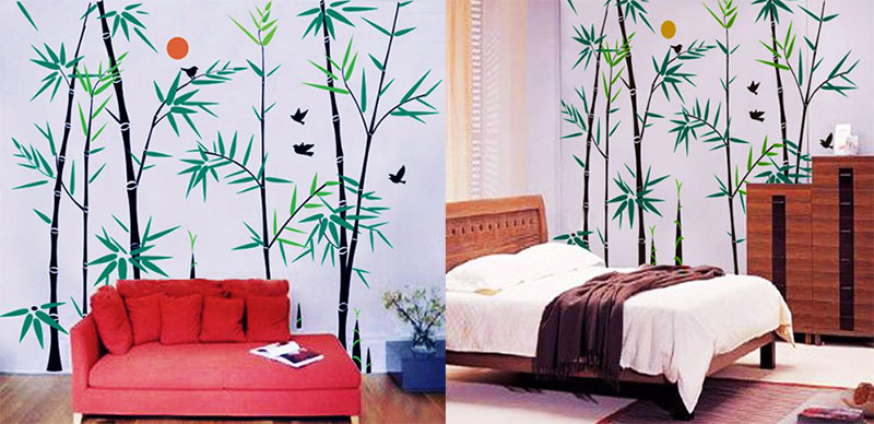 Vinyl-Wall-Art-Decals-Bamboo-Forest
