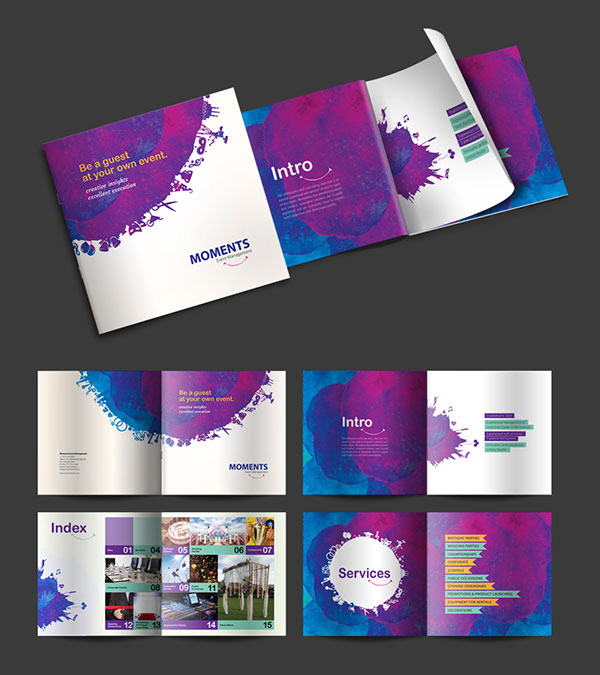 brochure design ideas 2016 for moments