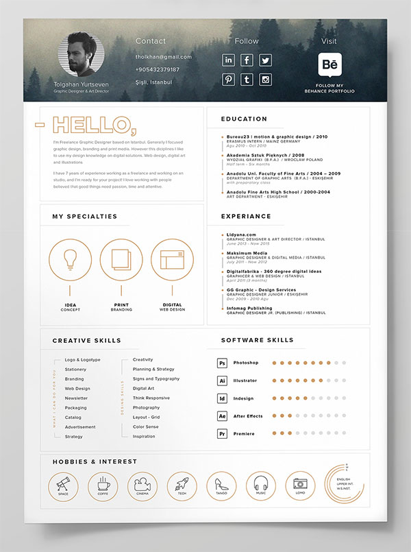 modern cv resume template for ai - Yeni.mescale.co