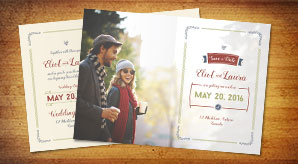 Free-Save-the-date-Pre-Wedding-Post-Card-Design-Template