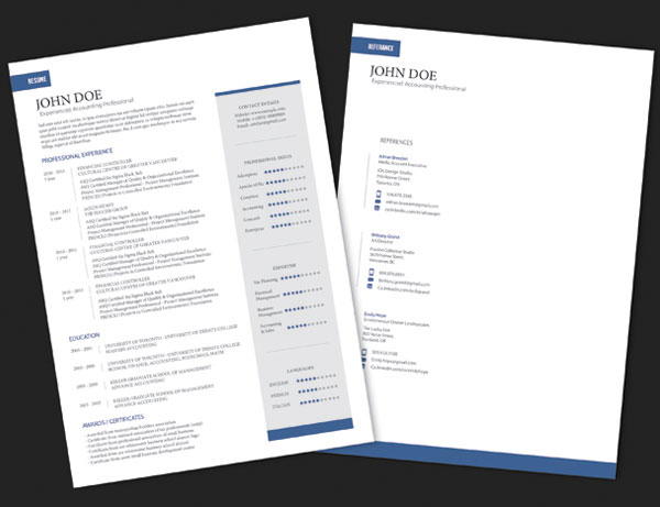 10 best free resume cv templates in ai indesign word psd formats - Simple resume design ...