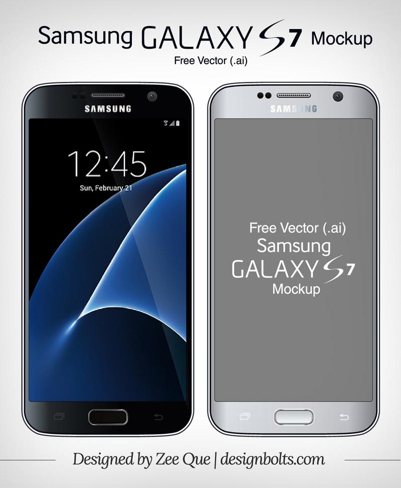 Free-Vector-Samsung-Galaxy-S7-mockup-ai