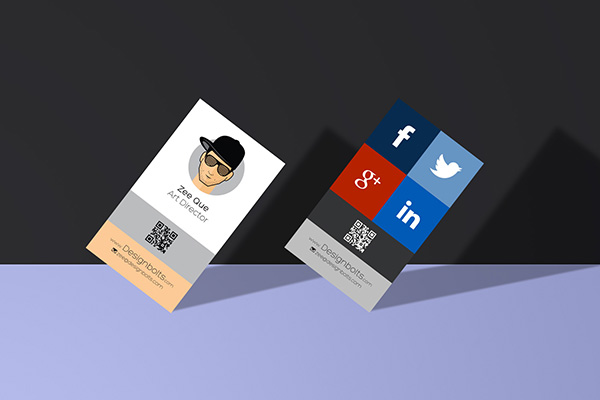 Free Vertical Business Card Design Template Mock Up Psd File