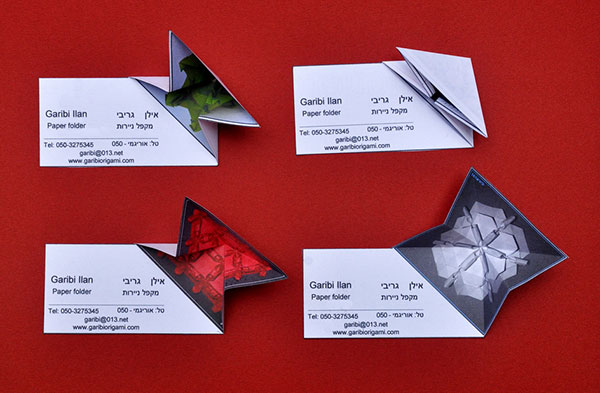 origami business card designs