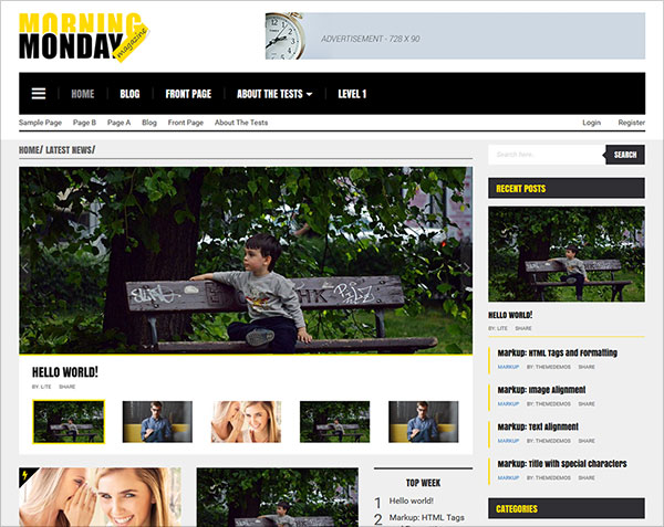 Morning-Monday-Lite-theme-magazine-WP-Theme