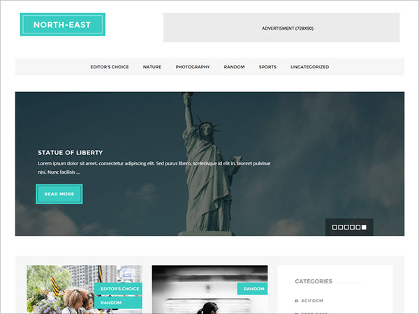 North-East-Elegant-Responsive-Blog-WP-theme