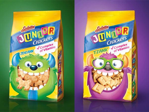 Salatini Junior Crackers Packaging