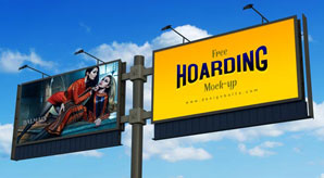 Free-Frontlit-Outdoor-Advertising-Hoarding-Mock-up-PSD