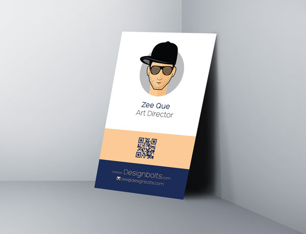 Free one side vertical business card design template mock up psd file flashek Image collections