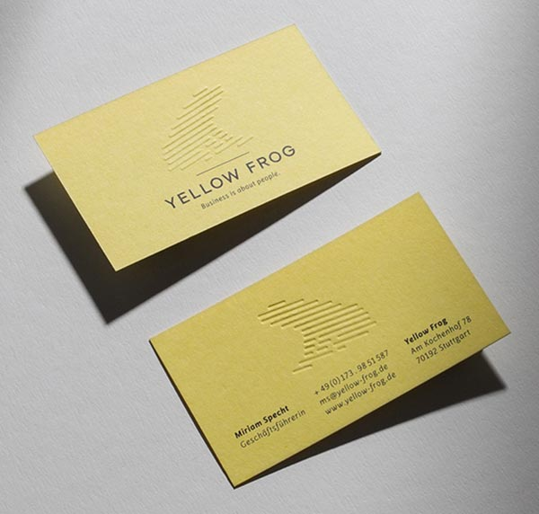 Simple Yet Modern Visit  Name Card Design Ideas For