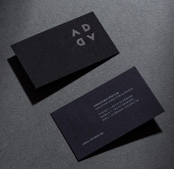 20 simple yet modern visit name card design ideas for 2016