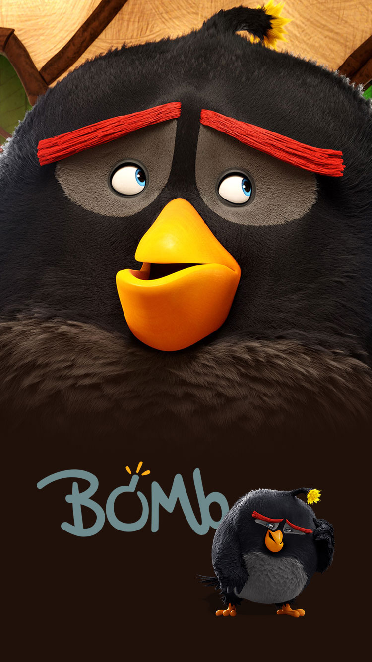 Angry-Bird-Bomb-iPhone-Wallpaper