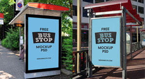 Free-Outdoor-Advertisement-Free-Bus-Shelter-Mockup-PSD-File-2