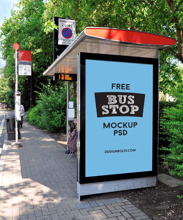 Free-Outdoor-Advertisment-Free-Bus-Shelter-Mockup-PSD-File