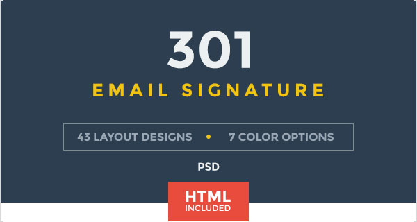 50+ Best Professional HTML & Outlook Email Signature Designs