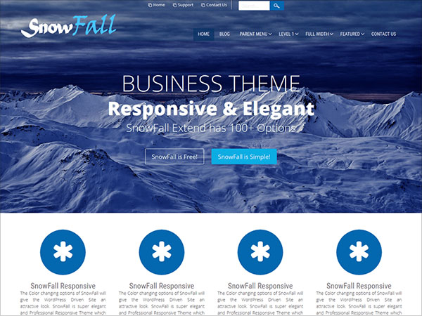 SnowFall-CSS3-WordPress-Ready-Responsive-Theme-2016