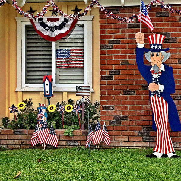 30 homemade diy 4th of july decorations decor craft For4th Of July Decorating Ideas For Outside