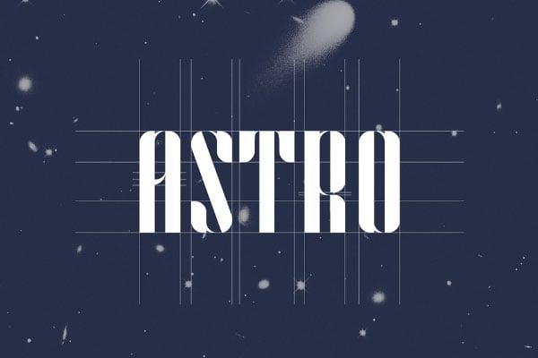 ASTRO-Free-Modular-Typeface