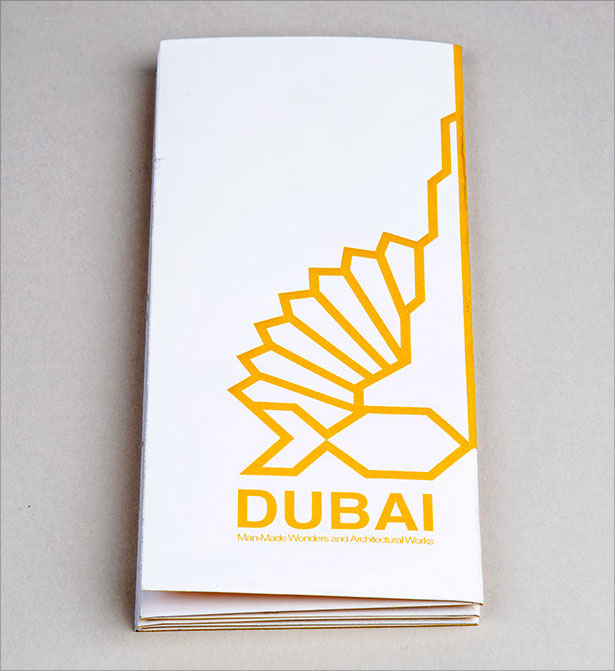Brochure-and-Flag-for-the-city-of-Dubai