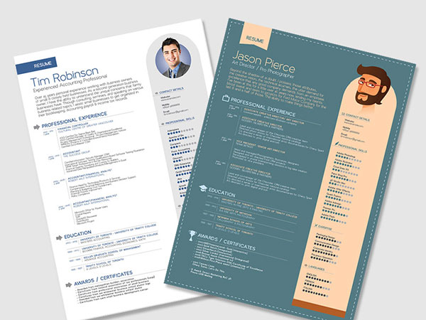 free simple resume templates in vector format