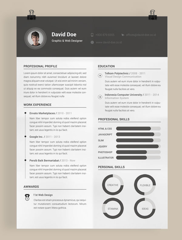 10 all time best free resume  cv  templates in word  psd  ai  u0026 indesign format