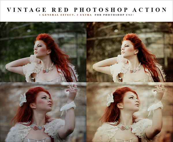 Red-vintage-Photoshop-action