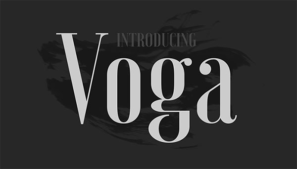 Voga-Free-Serif-Font
