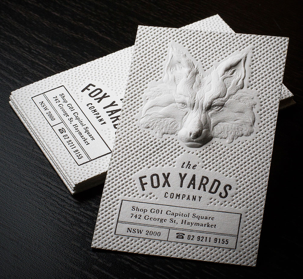 Innovative 3D Embossed Business Cards for inspiration