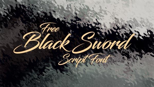 Black-Sword-Free-Script-Font