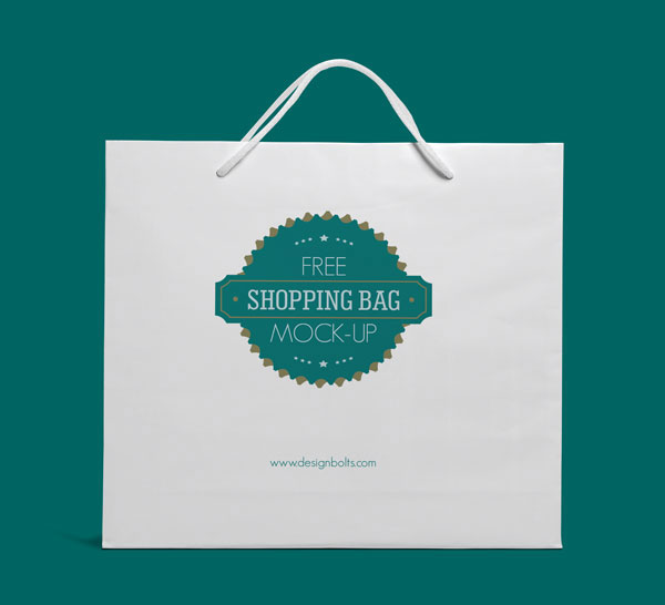 Free Eco Friendly White Shopping Bag Mock Up Psd