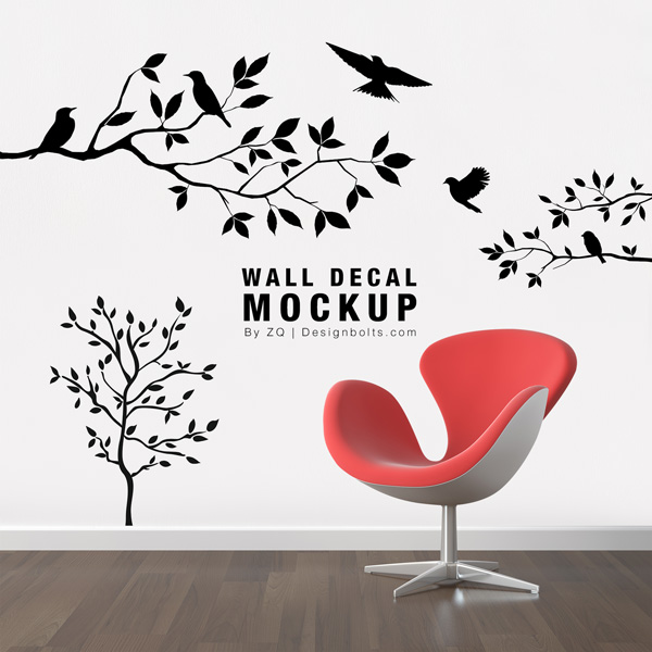 Free-Wall-Decal-Sticker-Mockup-PSD-File