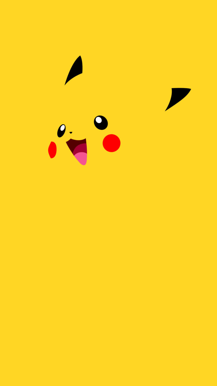 Pikachu-Flat-iPhone-6-Wallpaper