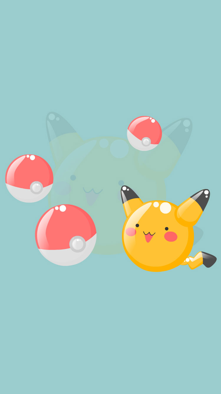 Pikachu-Pokeballs-iPhone-Wallpaper