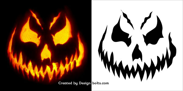 10 free halloween scary pumpkin carving stencils patterns rh designbolts com scary pumpkin carving patterns free printable scary pumpkin carving stencils