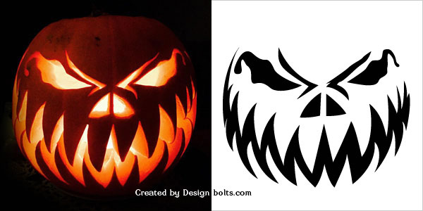 scary pumpkin carving patterns - Free Scary Halloween Pumpkin Carving Patterns