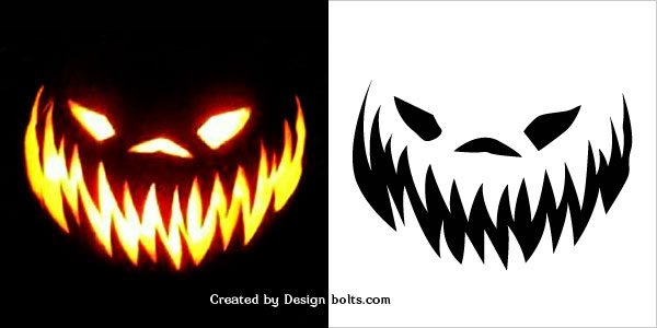 Free halloween scary pumpkin carving stencils patterns