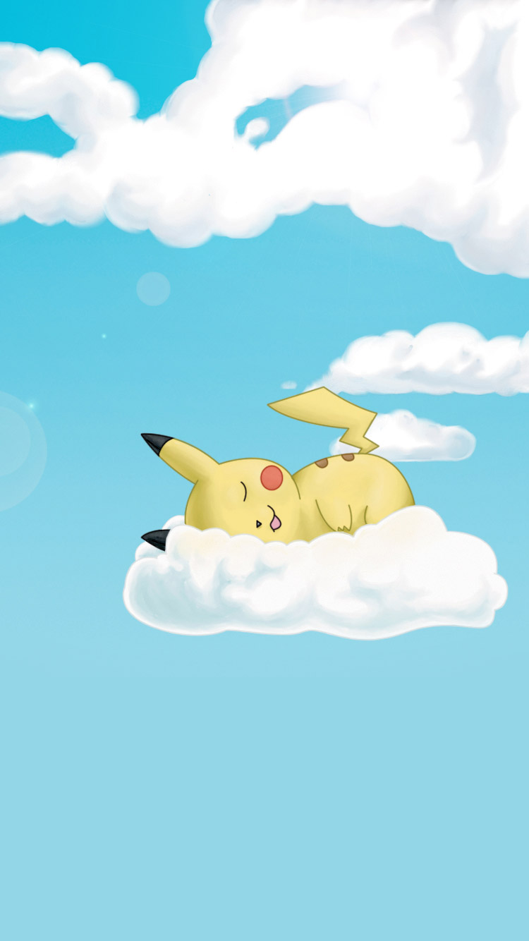 Sleeping-Pikachu-iPhone-Wallpaper