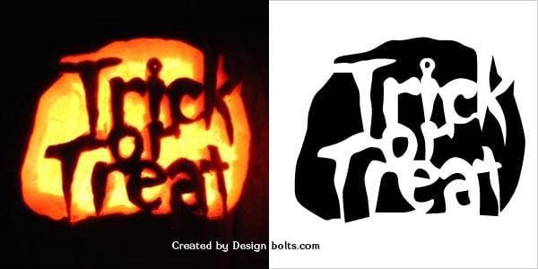 trick or treat pumpkin stencils free printable