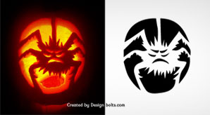 10 free scary halloween pumpkin carving patterns stencils printable templates 2016 - Free Scary Halloween Pumpkin Carving Patterns