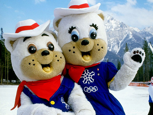 1988-Calgary-Olympic-Mascots-Hidy-and-Howdy,-the-polar-bears-2