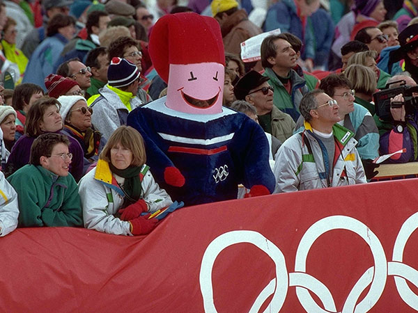 1992-Albertville-Olympic-Mascot,-Magique-the-Man-Star