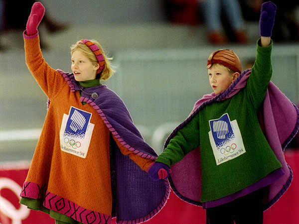 1994-Lillehammer-Olympic-Mascots-Hakon-and-Kristin-Norwegian-Children