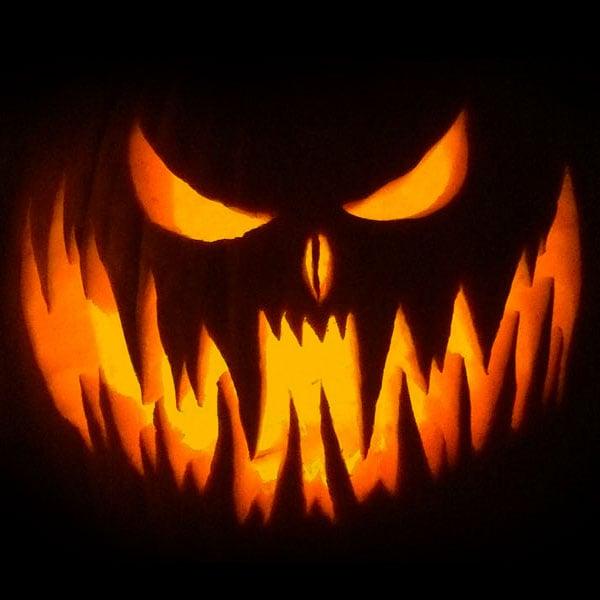Scary Pumpkin for Halloween 2016