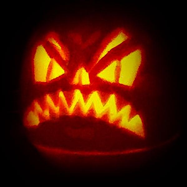 Angry Halloween Pumpkin Face 2016