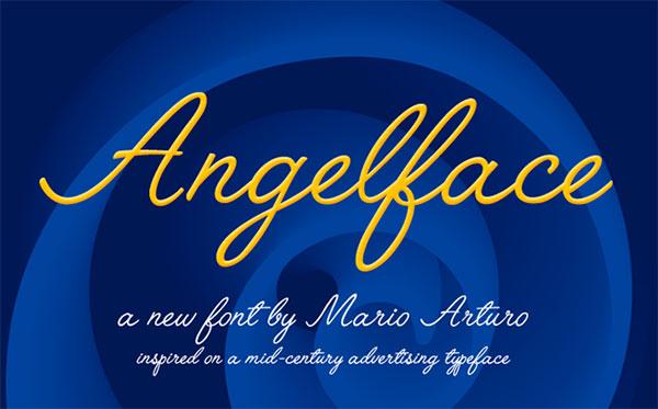 Angleface-free-handwritten-font
