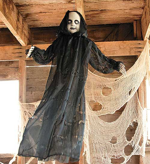 baby face reaper halloween decor 2016
