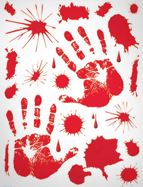 Bloody-Handprint-Stickers