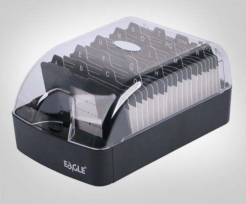 Eagle-Business-Card-Holder,-Push-Button,Storage-up-to-350-Cards